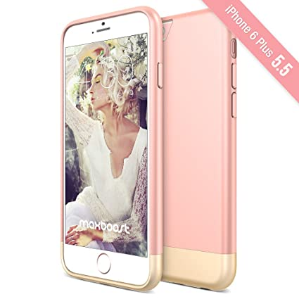 iPhone 6S Plus Case, Maxboost [Vibrance S] Slider Style Protective Case Soft-Interior Cover for iPhone 6 Plus 2014 / 6S Plus 2015 - Rose Gold