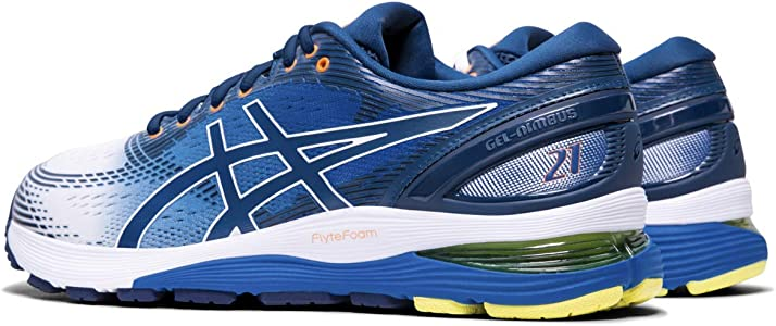Amazon.com | ASICS Men's Gel-Nimbus 21 Arise Running Shoes, White ...