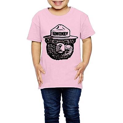 Geneva F Smokey Bear Children's T-Shirts For Girls & Boys Pink