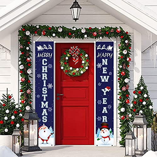 HAKACC Christmas Hanging Banners for Holiday Home Indoor Outdoor Porch Wall Christmas Decoration