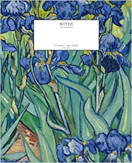 Book Vincent van Gogh 'Irises' Notebook (7.5' x 9.25'-204 Pages): (Decorative Notebook, Appreciation Journal, Personal Diary)