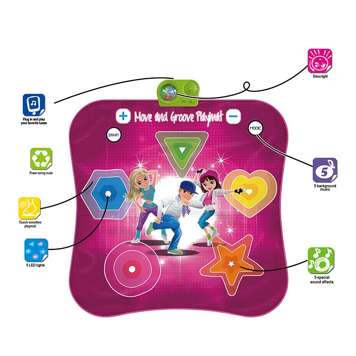 Kids Electronic Music Play Mat, Color Dance Pad Soft Baby Early Education Portable Music Dance Keyboard Carpet by Eustoma (Image #4)
