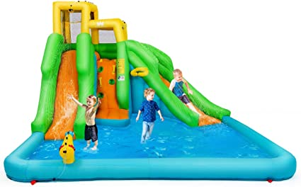 Amazon.com: Costzon - Bounce hinchable, piscina de agua con ...