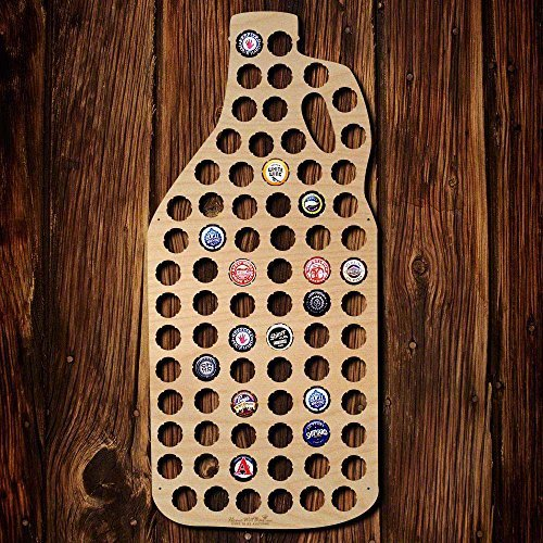 Wall Decor Leiacikl22 Designed Growler Beer Cap Map Gifts for Men Wall Decor Gifts Bottle Beer Cap Holder Crafts 21.65 x 10.63''