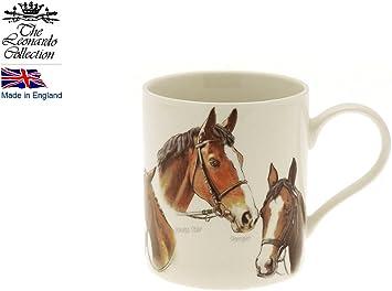 Leonardo Classic Race taza de porcelana de caballos en caja regalo: Amazon.es: Juguetes y juegos