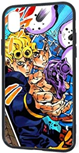 DZCP-y Divertido Estuche de diseño para iPhone XR, JoJo's Bizarre Adventure Eyes of Heaven Giorno Mista Fashion