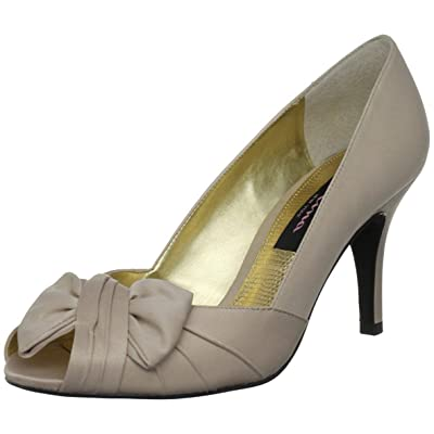 Nina Women's Forbes Satin Peep-Toe Pump | Pumps