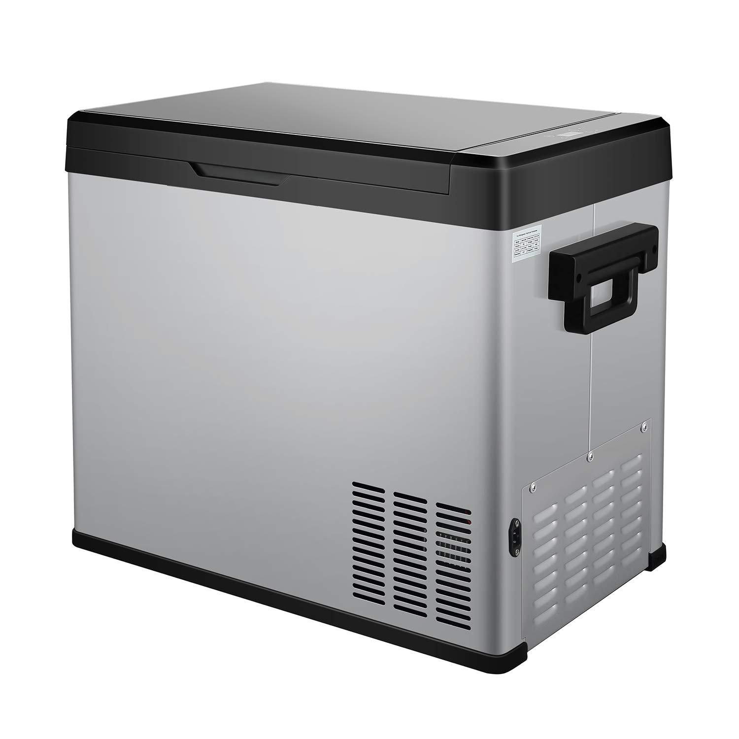 54 Quart Portable RV Refrigerator/Freezer Compact Vehicle Car Fridge Compressor Electric Cooler for Car,Truck,RV,Boat,Outdoor and Home use 12/24V DC and 90-250 AC,Cooling from 68°F to -13°F by Linsion
