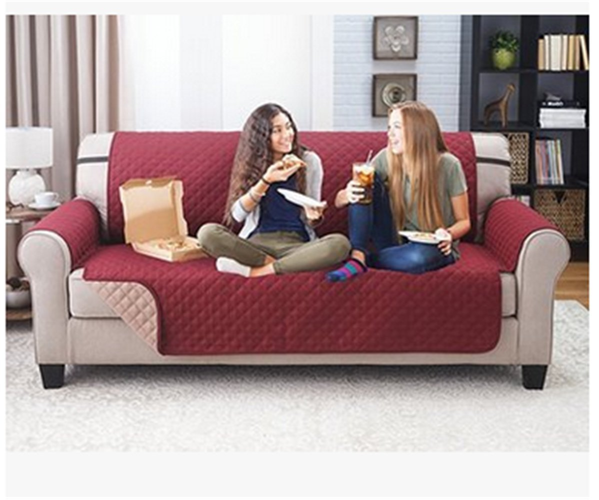 seiyue犬猫ソファーカバーペットマットパッドブランケットSlipcoverソファ家具プロテクターベッド 3 Sofa Seats レッド 3 Sofa Seats レッド B07BF5ZGKS