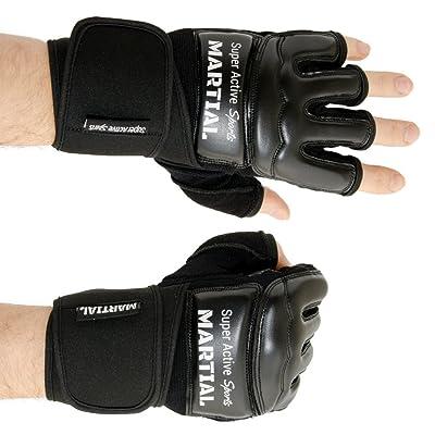 Guantes de boxe MMA profesionales - Calidad Profesional - Boxeo - Fabricados con una Alta calidad - Boxeo, entrenamiento, saco de arena, Free Fight, grapling, deportes de lucha - Negro - Guantes de boxeo