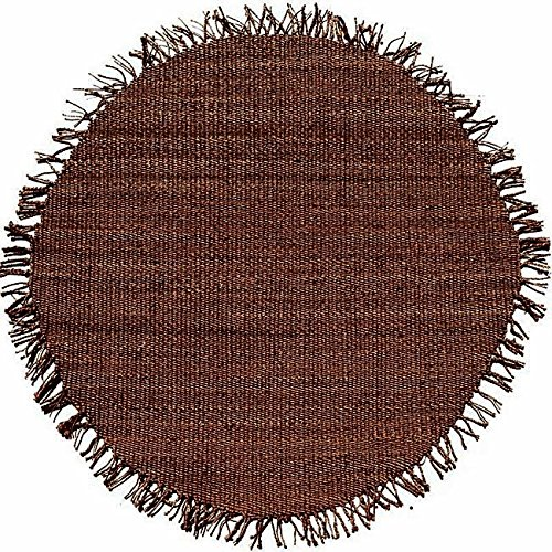 Acura Rugs Natural Jute Collection  Transitional Style Hand Woven Round Area Rug, 8'/96