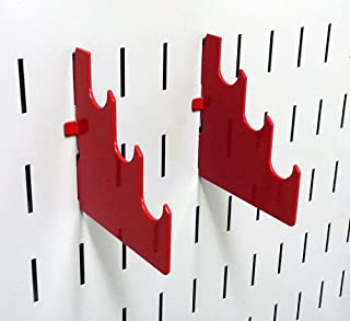 product image for Wall Control Pegboard Slotted Metal Pegboard Rod Bracket Pair Accessory Pack for Wall Control Pegboard and Slotted Tool Board – Red