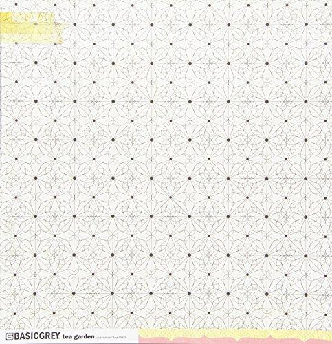 Basic Grey 12x12 Paper Cardstock - BasicGrey 25 Sheets Tea Garden Double-Sided Chamomile Cardstock, 12 x 12