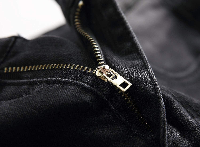 OBT Boys Slim Moto Biker Skinny Ripped Distressed Stretch Fashion Fit Denim Jeans