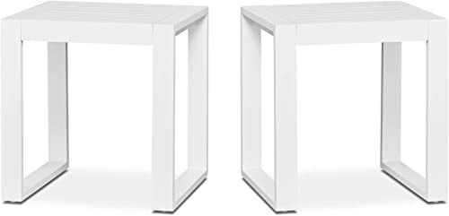 Real Flame 9625-WHT Baltic End Tables-Set of 2