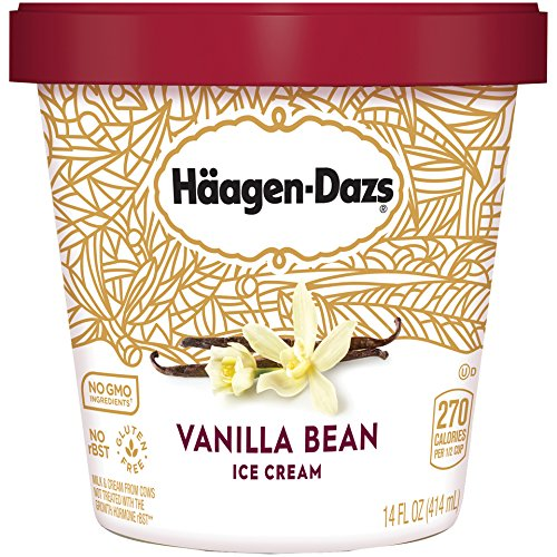 Haagen-Dazs, Vanilla Bean Ice Cream, Pint (8 Count) by Haagen-Dazs
