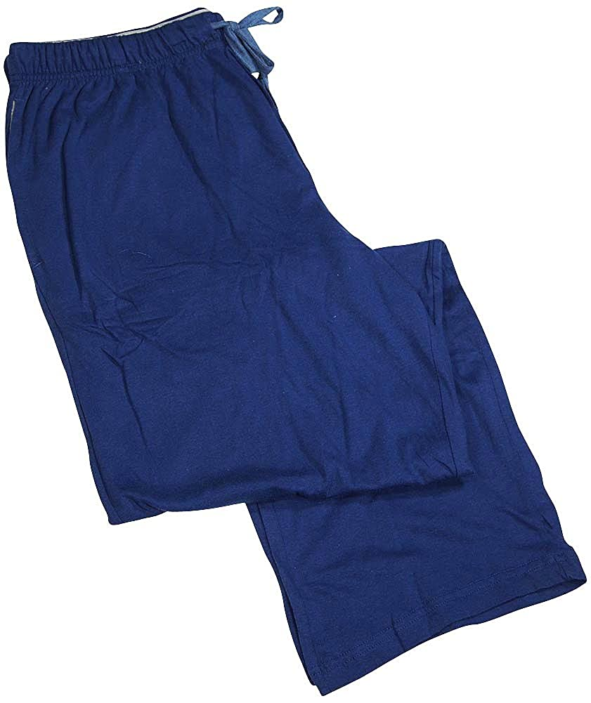 Hanes Lounge Pajama Sleepwear Mens ComfortBlend Cotton Knit Pant YFFSUN