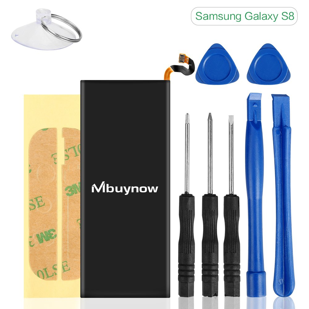 Bateria Celular 3000 mAh Compatible con Samsung Galaxy S8 Mbuynow Kit 0 Cycle Complete Herramientas Adhesive Strips 1