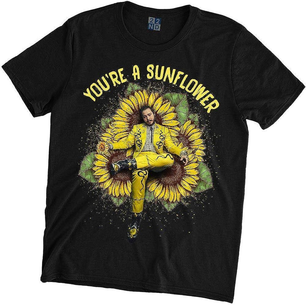 weiyijianada Youre A Sunflower T-Shirt Post Malone Black