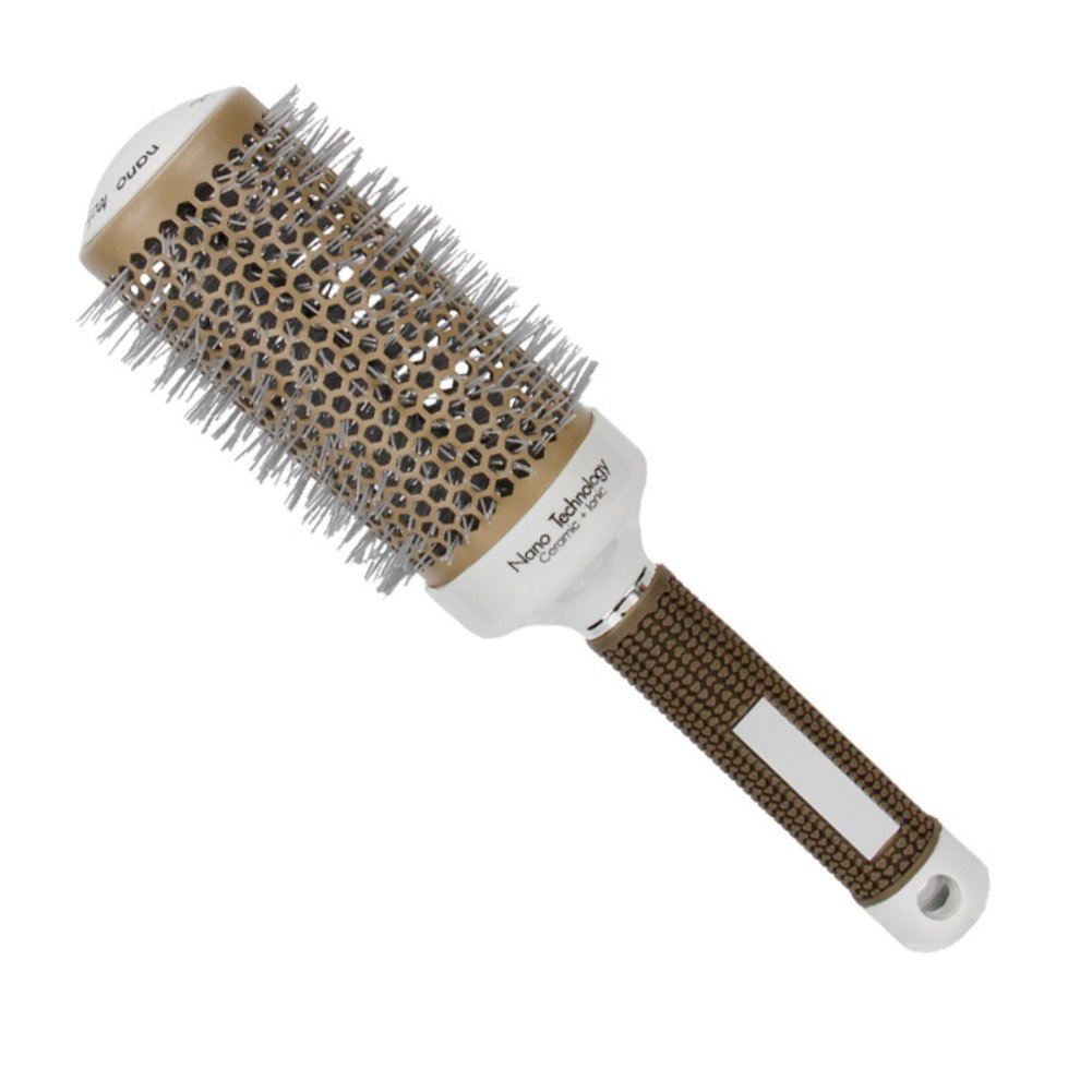 Spdoo Pro Gray Aluminum Tube Comb Hair Salon Round Comb Hairdressing Brushes Salon Styling Barrel Curler Brush