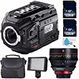 Blackmagic Design URSA Mini Pro 4.6K Digital Cinema Camera #CINEURSAMUPRO46K + Professional 160 LED Video Light Studio Series + Canon CN-E 85mm T1.3 L F Cine Lens (International Model) Bundle