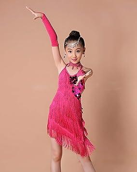 WAGQ Borla Latino Vestido De Baile Vestido Danza Latina Niña Traje ...