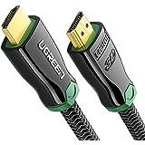 UGREEN Cable HDMI 2.0, Premium 2.0 Cable HDMI de Alta Velocidad Soporte 4K 60Hz Ultra Alta Definición, 3D y Retorno de Audio, Conectores chapados sin Soldadura para Reproductor de Blu Ray, Nintendo Wii, Xbox, PS4, Ultrabook, Proyector y Más, 2 Metro