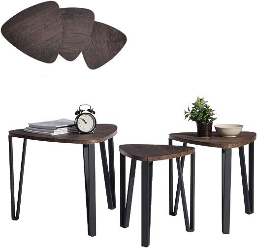 Beistelltisch aus Holz 40 cm in grau für drinnen und draußen Holztisch Tischchen