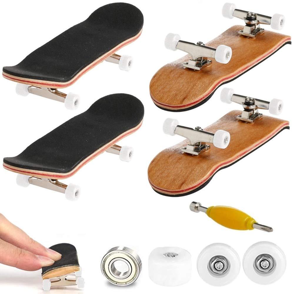 Mini DIY Complete Wooden Fingerboard Finger Desk Skate Board Wood Toy Gift
