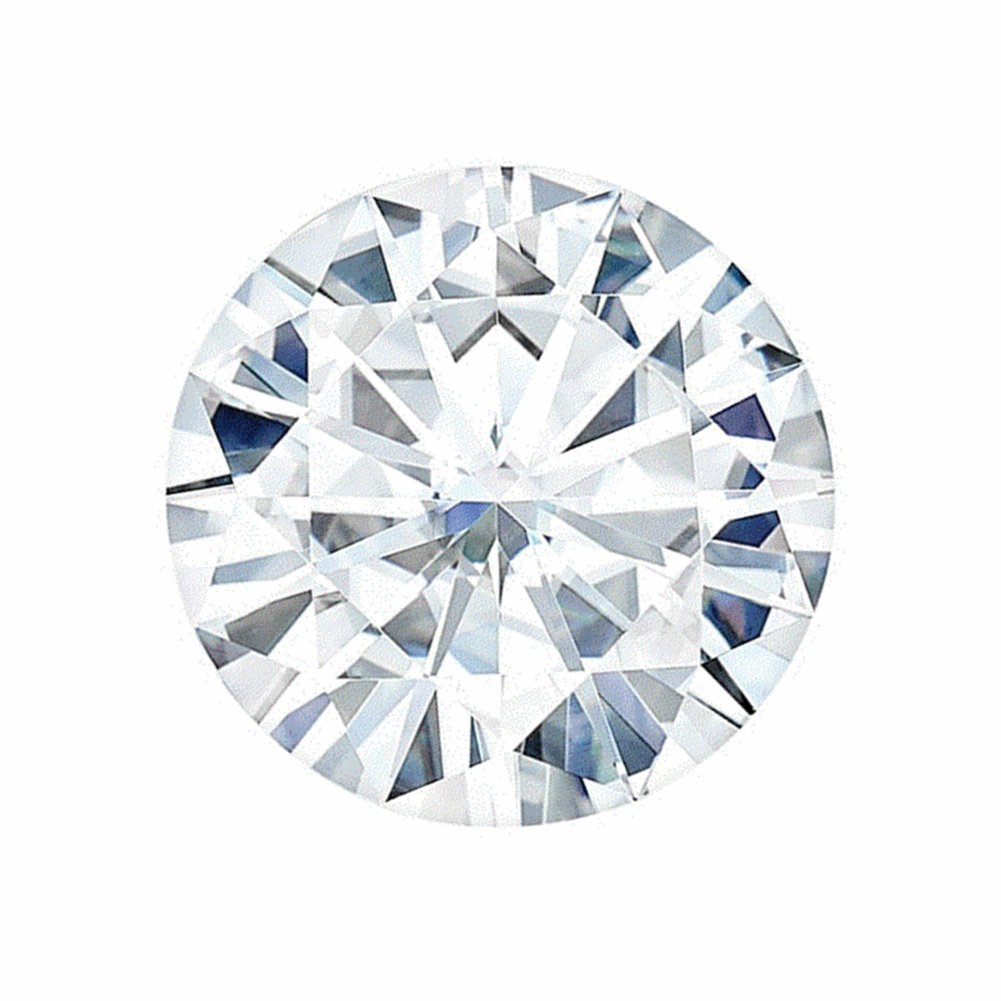 6.5 MM Round Brilliant Cut Forever One® Loose Moissanite by Charles & Colvard - Very Good Cut (0.88ct Actual Weight, 1.00ct Diamond Equivalent Weight)