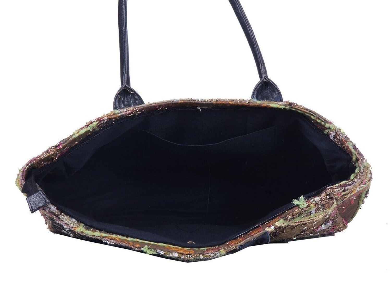 Jaipur Textile Hub Indian Handmade Cotton Brown Khambadiya Sholder Bag ( JTH-BGD-28 )