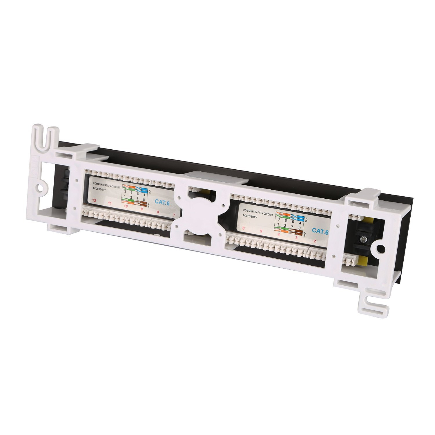 Dshot 12 Port Utp 10 Inch Cat6 Network Wall Mount Dress Wires A V Installation Patch Panel To Switch On Rack Surface Computers Accessories