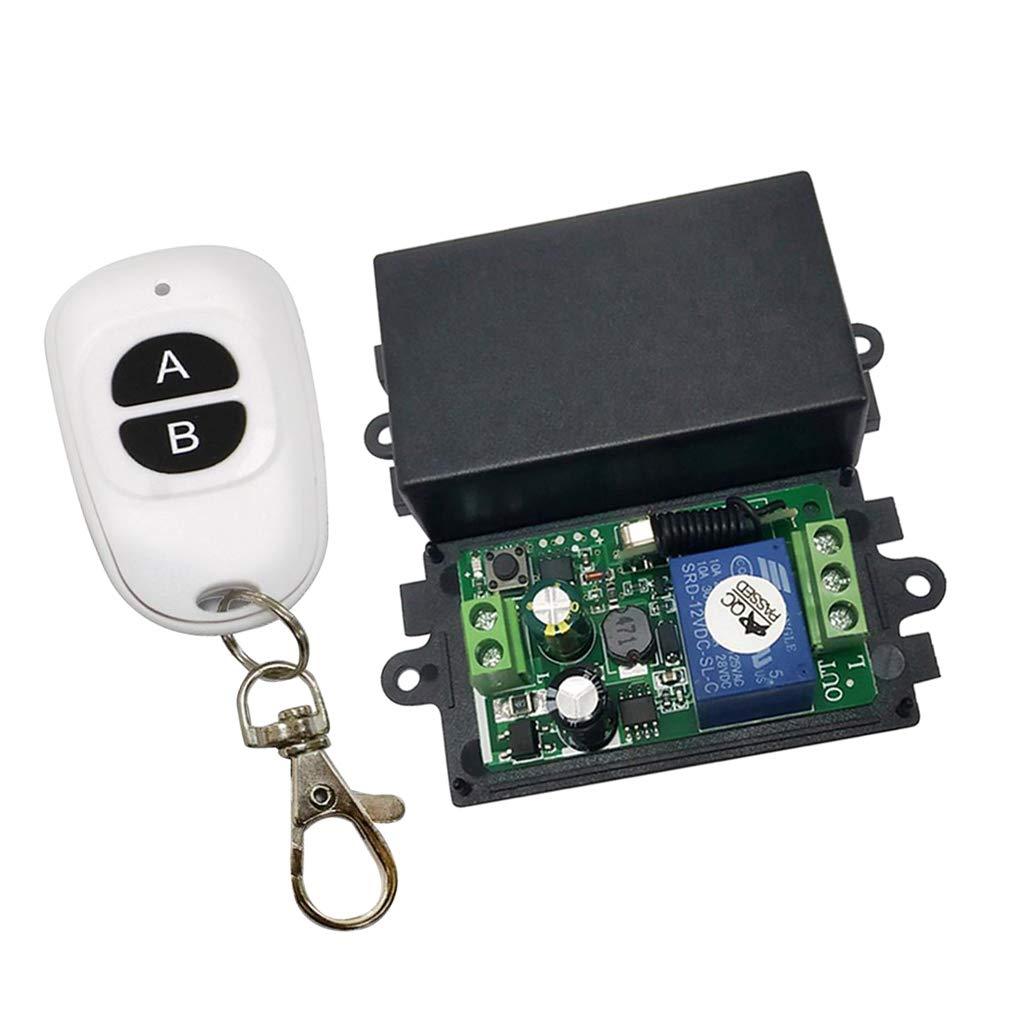 Einzelne Taste 260V Fernbedienung 433 MHz Empf/änger Sender Funksteuerung Funkfernbedienungsschalter perfk AC 85V