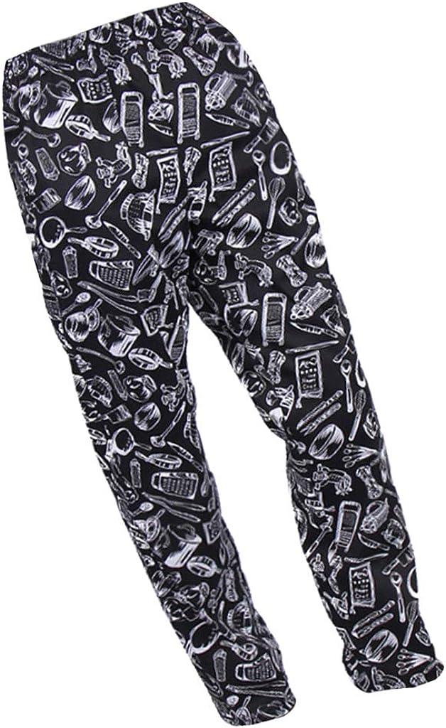 gazechimp Chef Uniform - Kitchen Trousers, Food Service Pants Unisex Workwear with Two Pockets, 6 Patterns 6