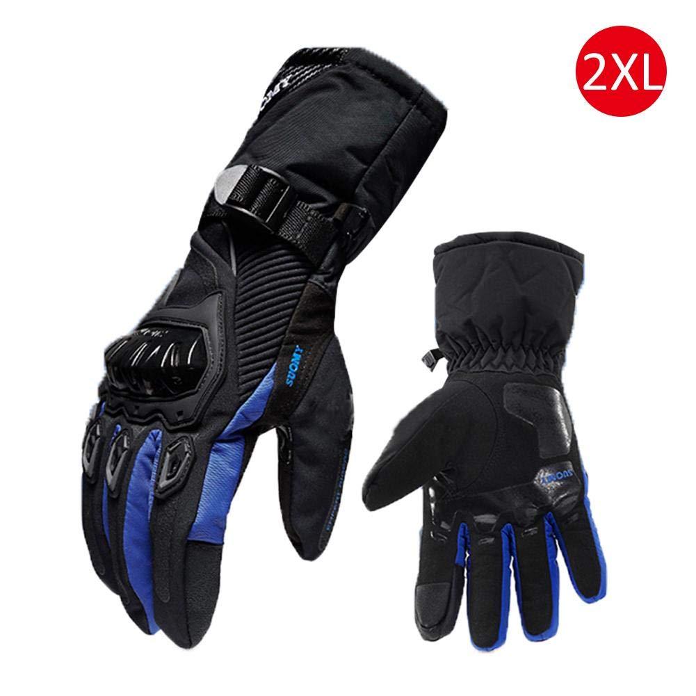 Gants de moto dhiver imperm/éables et chauds quatre saisons /équitation moto cycliste anti-automne gants de Cross-Country