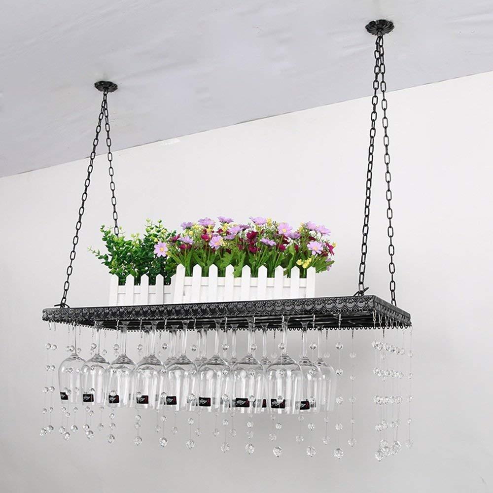 MJK Casiers /à vin Porte-verre suspendu D/écorations pour Porte-bouteilles cr/éatifs europ/éens Porte-gobelets pour le vin rouge suspendu//Salon de cuisine suspendu//Supports de rangement suspendus