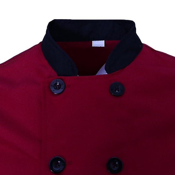 Dolity Chaqueta Unisex de Poli-algodón Camisa Chaleco Profesional Cómodo Suave Ropa de Chef Cocinero Durable Seco Rápido hqmi0