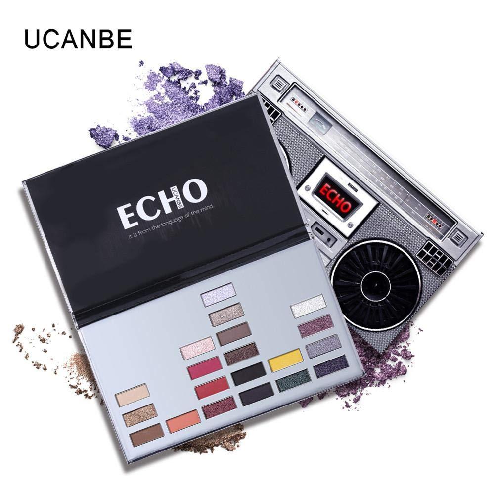 Paleta de sombras de ojos Flash Matte Eye Shadow Powder Paleta de maquillaje de larga duración 20 colores - UCANBE