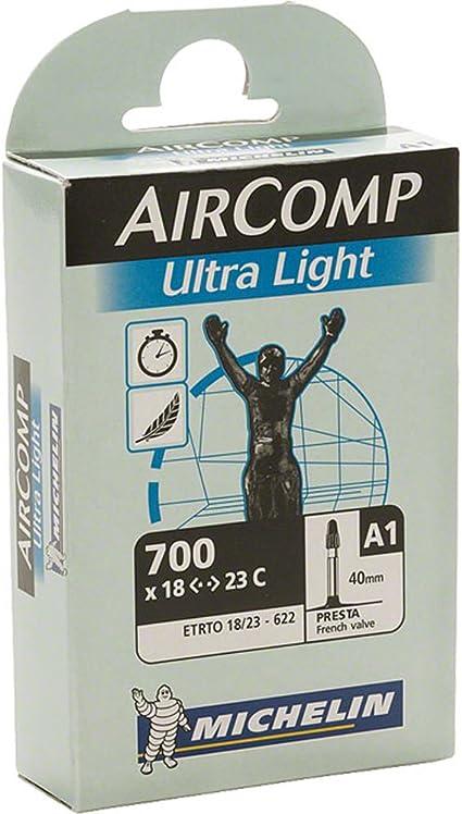 Michelin AirComp Ultra-Light 700x18//23 Road Bicycle Tube 40mm Presta Valve