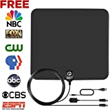 TV Antenna,GET Indoor Amplified HDTV Antenna with 50 Mile Range Detachable Amplifier Signal Booster and 13.2FT High Performance Coax Cable for Better Reception