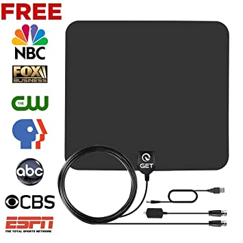 Review Get TV Antenna, Indoor