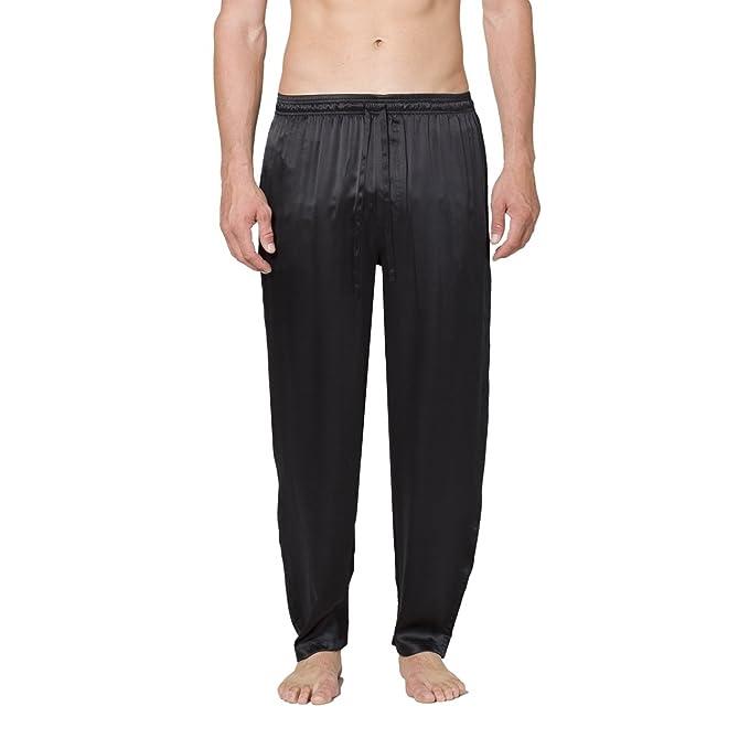 intimo Silk Drawstring Pajama Pants, Pantalón de Pijama para Hombre: Amazon.es: Ropa y accesorios