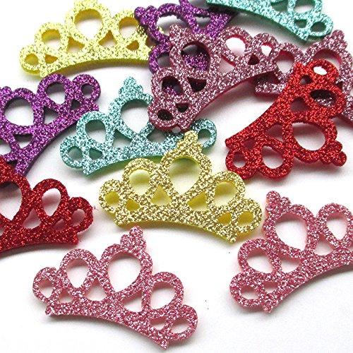 Dandan DIY 30PCS Felt Padded Crown Bright Powder Craft Appliques Babyshow Wedding Deco (Crown Applique)