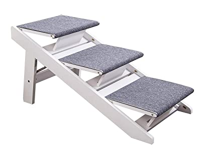 PAWLAND 2-in-1 Portable Folding Pet Stairs