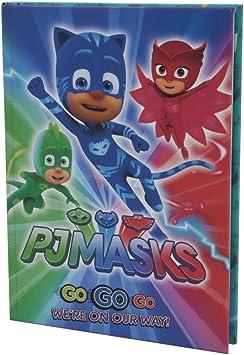 PJ Mask Diario Scuola 10 MESI, Formato Standard, 320 Pagine, Nero, Collezione 2018/19 Etiqueta para Equipaje, (Multicolore)