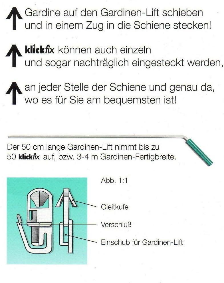 Klickfix Gardinengleiter das Original a 100 St.