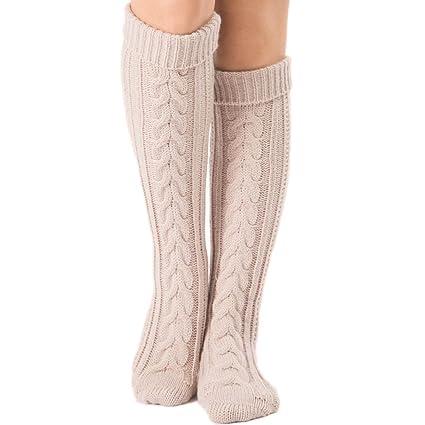 Womens Crochet Knitted Stocking Winter Leg Warmers Boot Cover Legging Long Socks