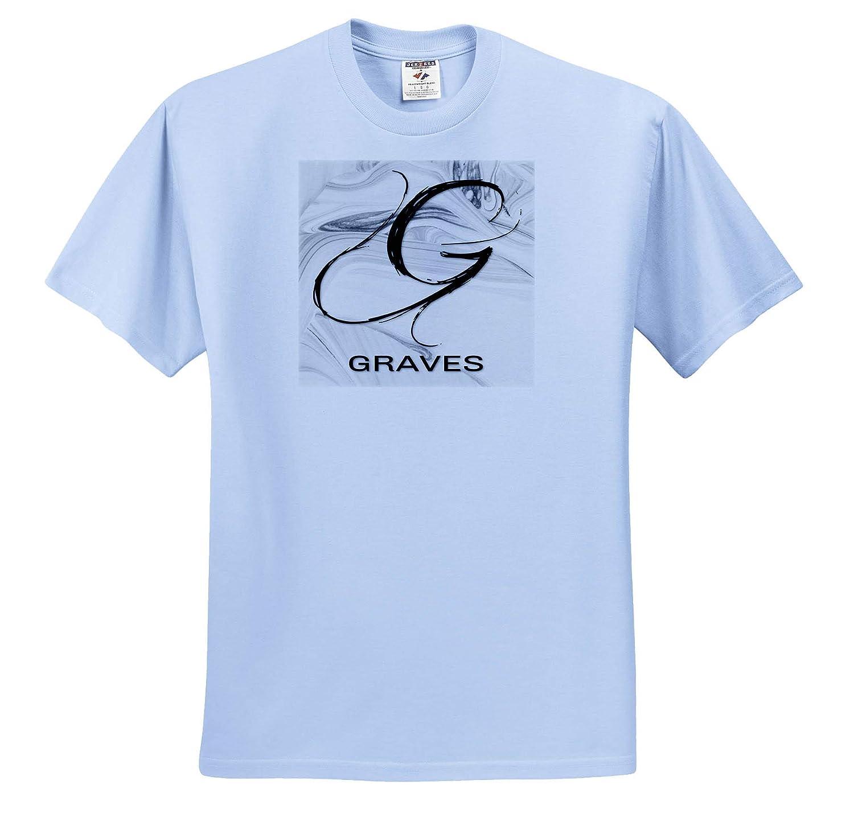 White Marble Monogram G Graves 3dRose BrooklynMeme Monograms T-Shirts