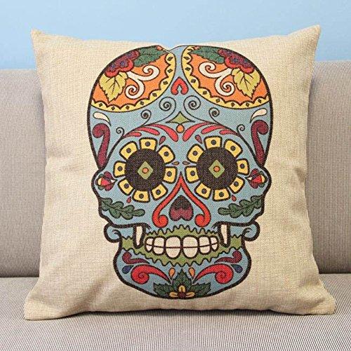 "Colourful Skulls Decor Throw Pillow Case Cushion Cover Square 18"""