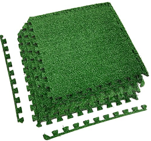Sorbus grass mat interlocking floor tiles soft for Grass carpet tiles